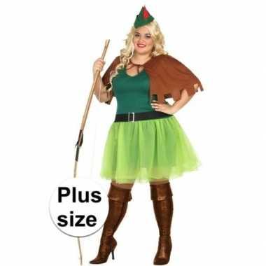 Grote maten robin hood kostuum 4 delig voor dames