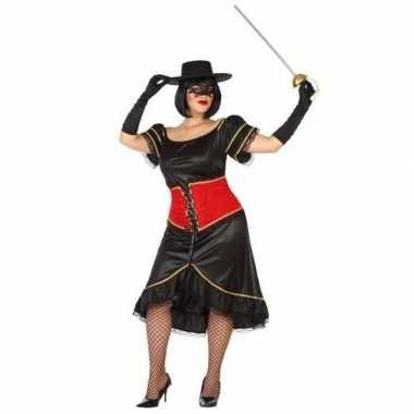 Grote maten spaanse gemaskerde vrouw verkleed kostuum voor dames