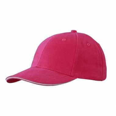 Hard roze baseball cap voor volwassenen