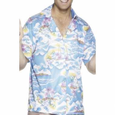 Hawaii overhemd blauw