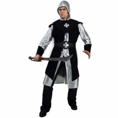 Herenpak ridder zilver en zwart