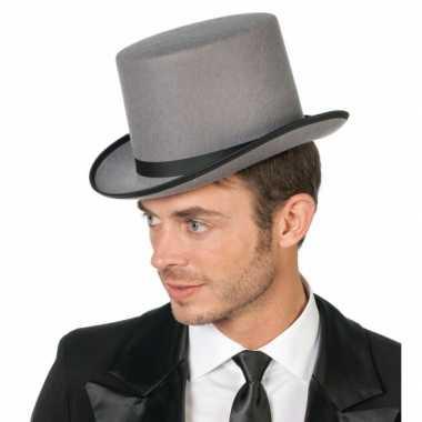Hoge hoed grijs volwassenen
