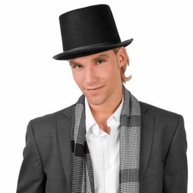Hoge hoed zwart volwassenen