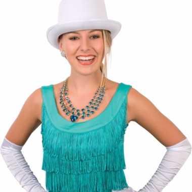 Hoge hoeden wit voor volwassenen