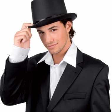 Hoge hoeden zwart voor volwassenen