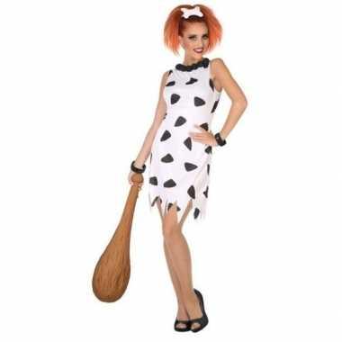 Holbewoonster/cavewoman wilma verkleed kostuum/jurk voor dames