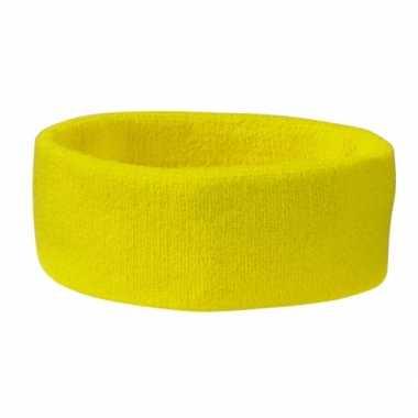 Hoofd zweetbandjes sport geelkleurig