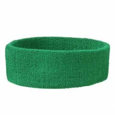 Hoofd zweetbandjes sport groen