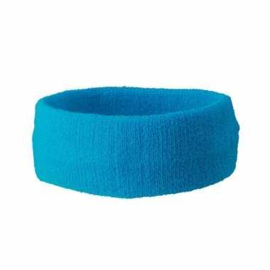 Hoofd zweetbandjes sport turquoise