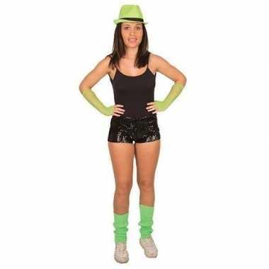 Hotpants met pailletten zwart voor dames