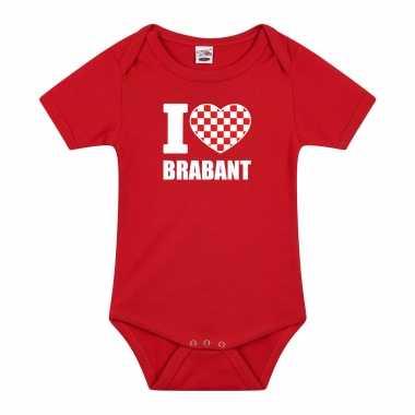 I love brabant baby rompertje rood jongen/meisje