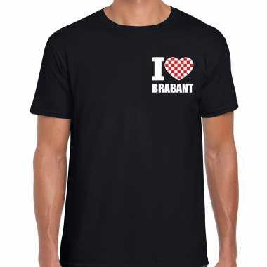 I love brabant t shirt zwart op borst voor heren