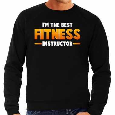 Im the best fitness instructor sweater zwart voor heren