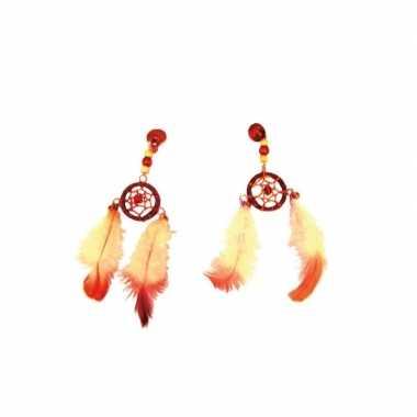 Indiaanse hippie oorbellen dromenvanger