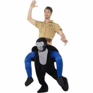 Instap dierenpak kostuum gorilla voor volwassenen