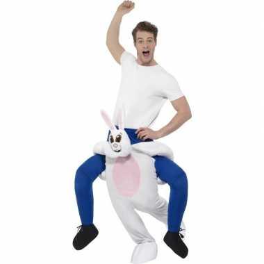 Instap dierenpak kostuum konijn/haas voor volwassenen