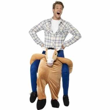 Instap dierenpak kostuum paard voor volwassenen