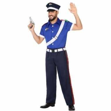 Italiaanse politie verkleed pak/kostuum voor volwassenen