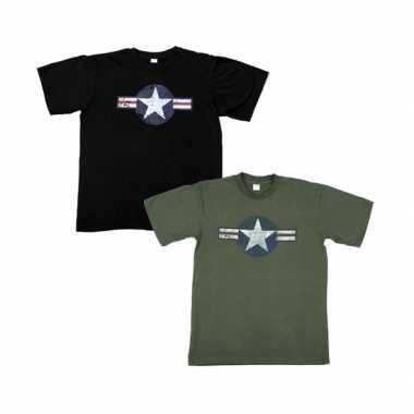 Katoenen usaf logo shirts voor heren