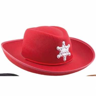 Kinder cowboyhoed rood