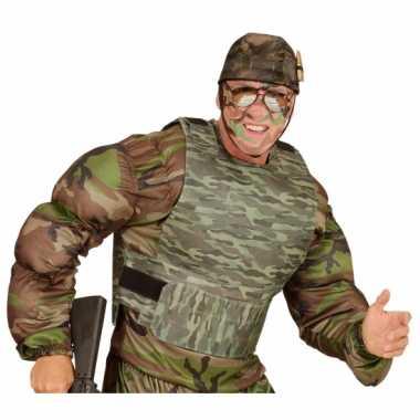 Kogelvrij leger camouflage vest verkleedkleding accessoire