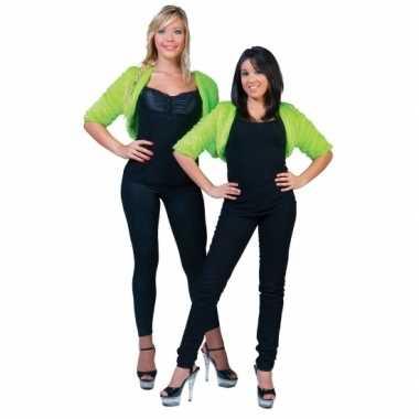 Kort groen pluche jasje voor dames