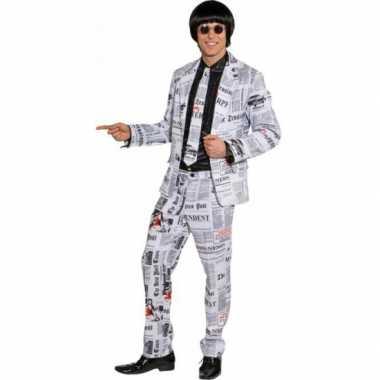 Kranten kostuum voor heren