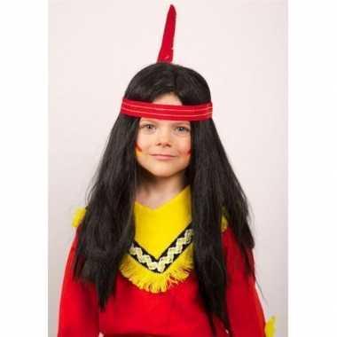 Lange indianen pruiken kinderen