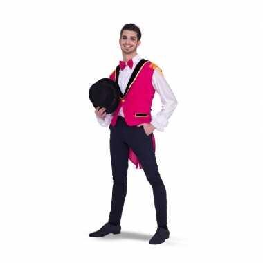 Lange roze gilet voor heren