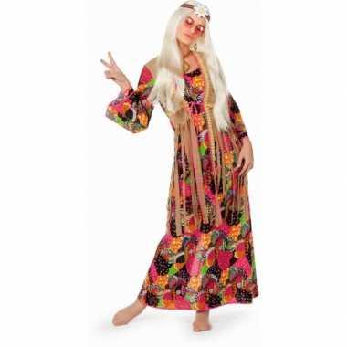 Lange sixties jurk flower power