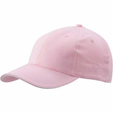 Lichtroze baseball cap voor volwassenen