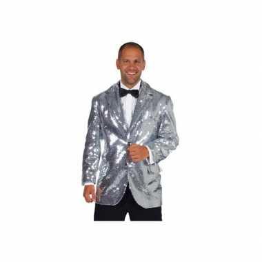 Luxe blazer zilver voor mannen