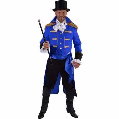 Luxe circus directeur outfit zwart voor heren