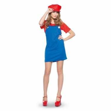 Mario dames verkleedkleding