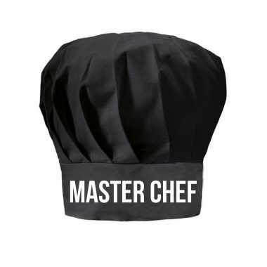 Master chef cadeau koksmuts zwart dames en heren