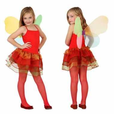 Meisjes vlinder kostuum rood