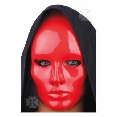 Mensen masker rood