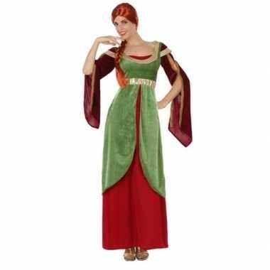 Middeleeuwse jonkvrouw/prinses verkleed kostuum voor dames