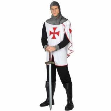 Middeleeuwse kruistocht ridder verkleed kostuum voor heren