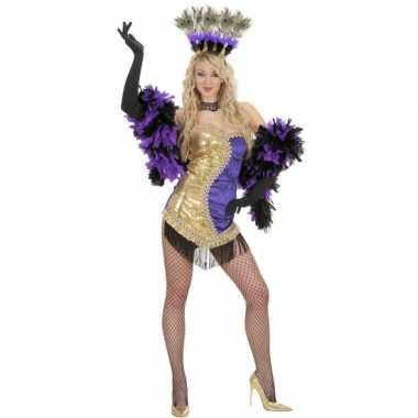 Moulin rouge kostuum goud/paars