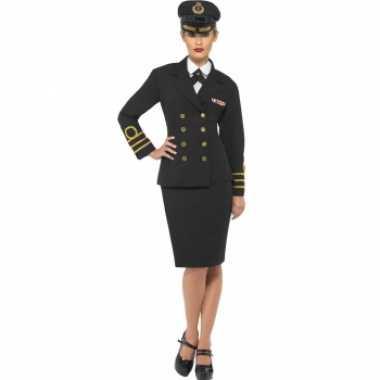 Navy officiers kostuum voor dames