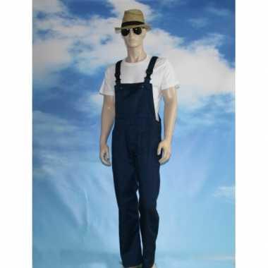 Navy tuinbroek overall voor volwassenen