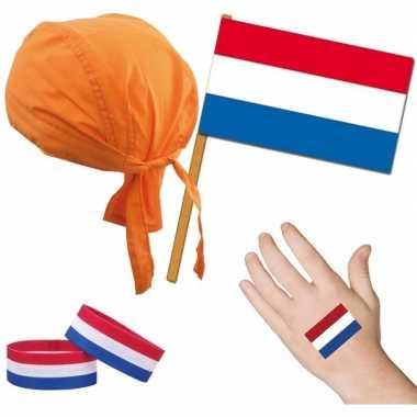 Nederland/holland thema verkleed set voor volwassenen