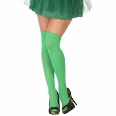 Neon groene verkleed kousen voor dames