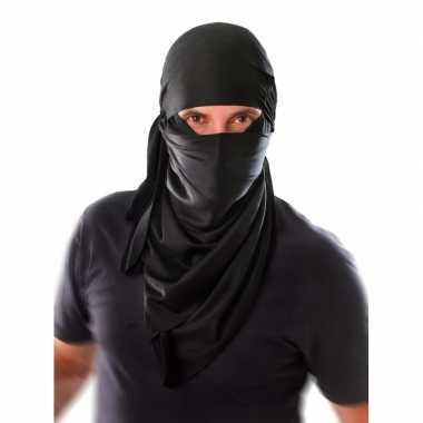 Ninja gezicht shawl zwart