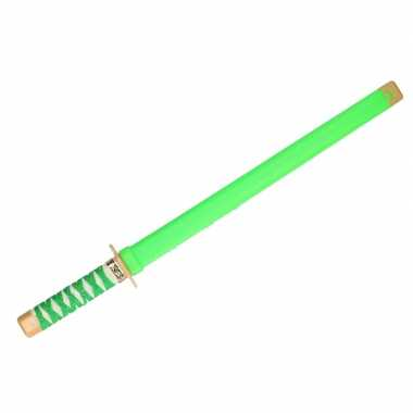 Ninja vechters zwaard verkleed wapen groen 65 cm