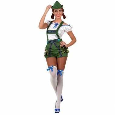 Oktoberfest sexy oktoberfest verkleed pak/kostuum groen voor dames