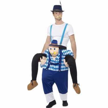 Oktoberfest verkleedkostuum man op bayerische man