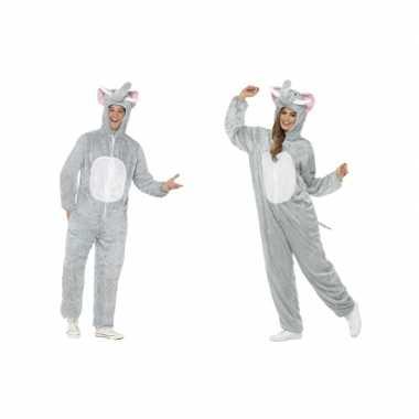 Olifant onesie kostuum voor volwassenen