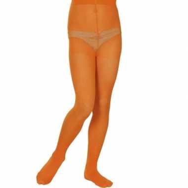 Oranje gekleurde panty voor kids